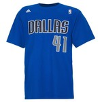 adidas Men's Mavericks Dirk Nowitzki Number T-shirt