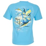 Guy Harvey Oil Rig Collage Men's T-shirt