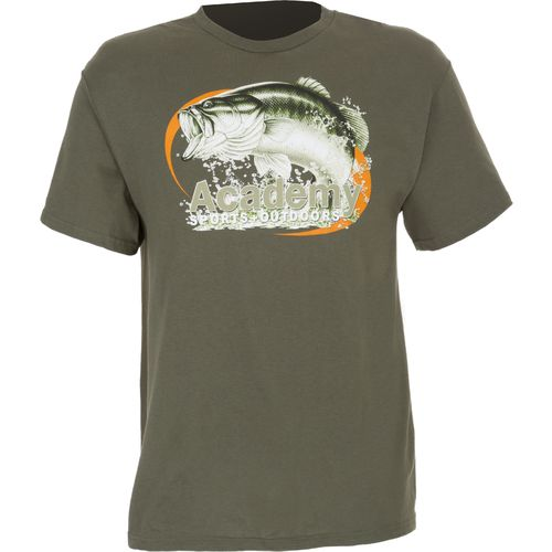 Academy Sports + Outdoors™ Men's Oval Bass Print T-shirt