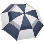 "Wilson Ultra™ 68"" Blue and White Dual-Canopy Umbrella"