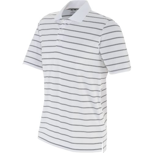 adidas™ Men's Puremotion 2-Color Stripe Jersey Polo Shirt