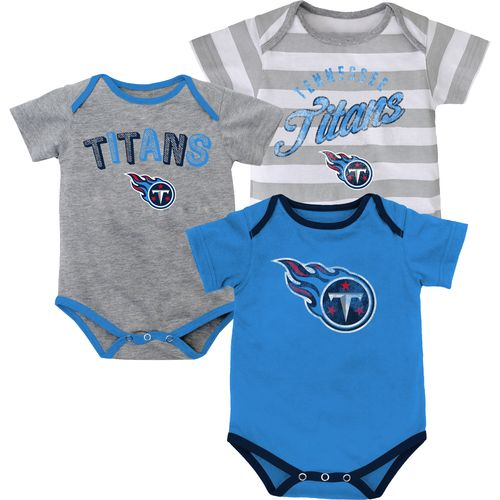 NFL Infants' Tennessee Titans Field Goal Bodysuits 3-Pack