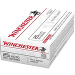 Winchester USA Full Metal Jacket .25 Automatic 50-Grain Handgun Ammunition - view number 1