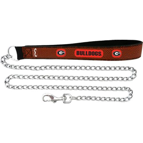 GameWear University of Georgia Football Leather Chain Leash
