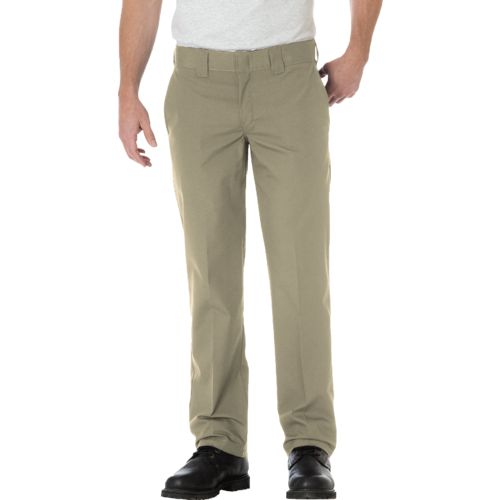 Dickies Men's Slim Straight Fit Poplin Work Pant