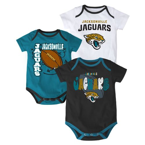 NFL Infant Boys' Jacksonville Jaguars 3 Point Spread Bodysuits 3-Pack