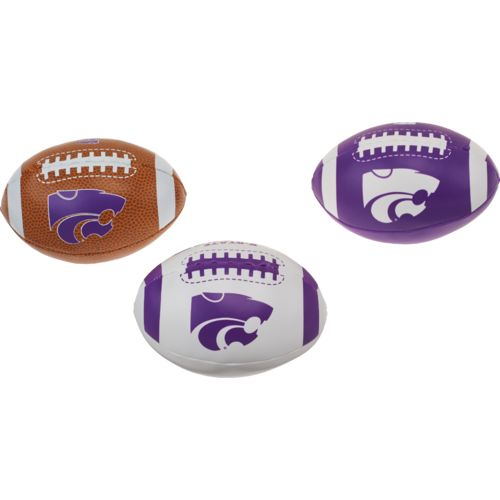 Rawlings® Boys' Kansas State University 3rd Down Softee 3-Ball Football Set