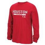 adidas Men's Houston Rockets Tip Off Cut and Paste Long Sleeve T-shirt
