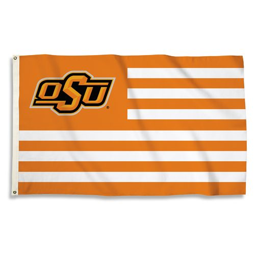 BSI Oklahoma State University USA Motif Flag