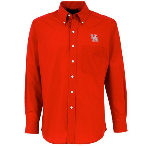 Antigua men 39 s university of houston dynasty long sleeve for College button down shirts
