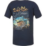 Salt Life Men's Blue Crab Pocket T-shirt