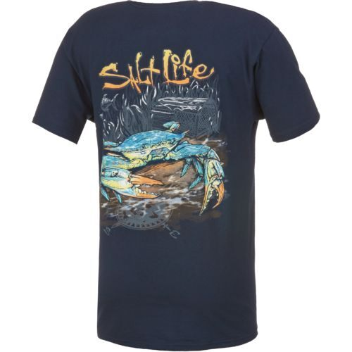 Salt Life™ Men's Blue Crab Pocket T-shirt