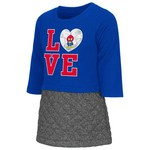 Colosseum Athletics Toddler Girls' University of Kansas Glitter Dress
