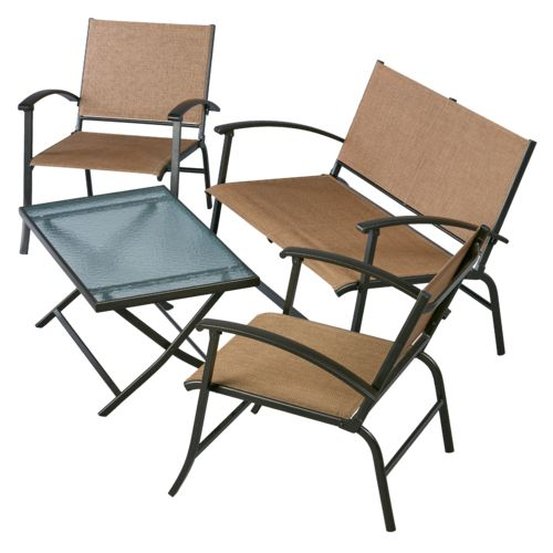 Mosaic™ 4-Piece Sling Folding Conversation Set