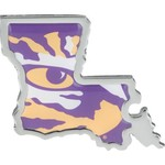 Stockdale Louisiana State University Chrome State Shape Auto Emblem