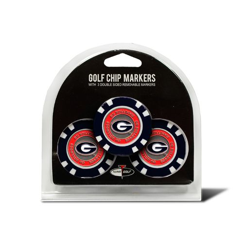 Team Golf University of Georgia Poker Chip and Golf Ball Marker Set - view number 1