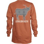 Three Squared Juniors' University of Texas Stockholm Long Sleeve T-shirt