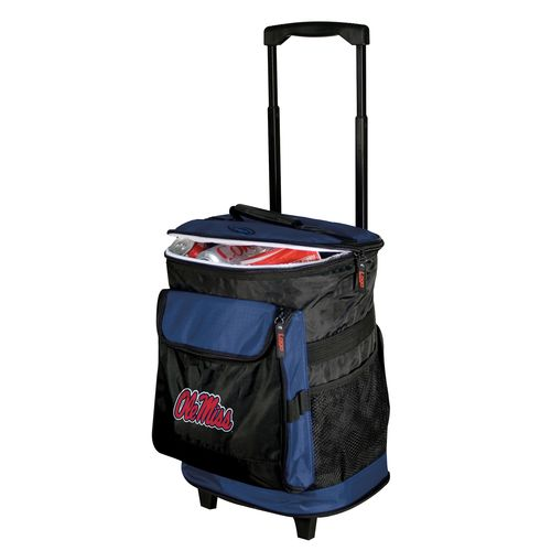 Logo University of Mississippi 48-Can Rolling Cooler
