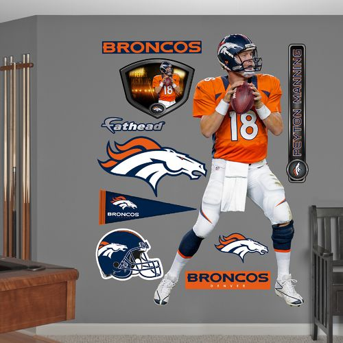Fathead Denver Broncos Peyton Manning Home Real Big