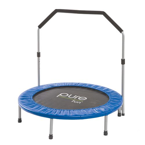 Pure Fun 40' Round Mini Rebounder Trampoline with Handrail