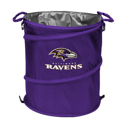 Logo™ Baltimore Ravens Collapsible 3-in-1 Cooler/Hamper/Wastebasket - view number 1