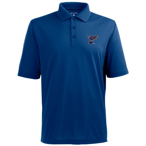Antigua Men's St. Louis Blues Piqué Xtra-Lite Polo Shirt