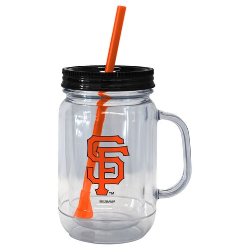 Boelter Brands San Francisco Giants 20 oz. Handled Straw Tumblers 2-Pack