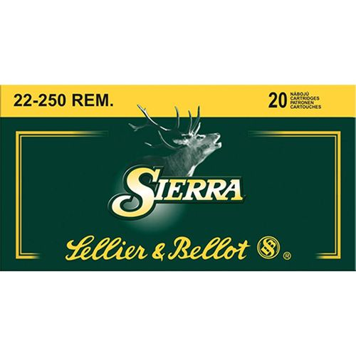 Display product reviews for Sellier & Bellot .22-250 Remington 55-Grain Sierra GameKing BTSP Centerfire Rifle Ammunition