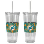 Boelter Brands Miami Dolphins Bold Neo Sleeve 22 oz. Straw Tumblers 2-Pack