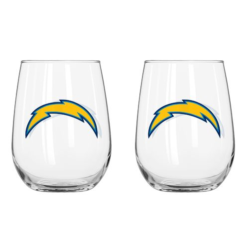 Boelter Brands San Diego Chargers 16 oz. Curved Beverage Glasses 2-Pack - view number 1