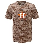 Majestic Boys' Houston Astros Digi Camo Sublimated Cool Base T-shirt