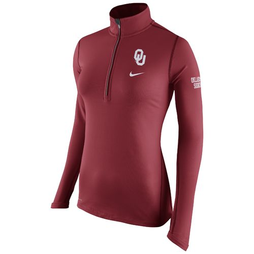 Nike Women's University of Oklahoma Elements 1/2 Zip Top