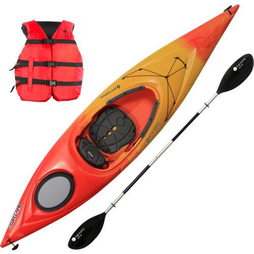 "Perception Rhythm 11'1"" Sit-Inside Kayak and Paddle Set"