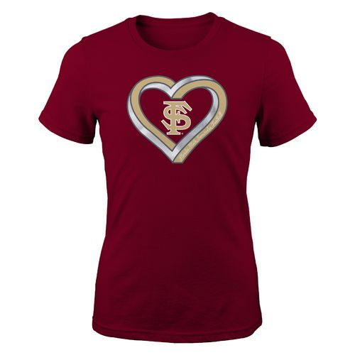 Gen2 Girls' Florida State University Infinite Heart Fashion Fit T-shirt