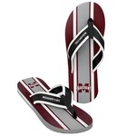 Forever Collectibles™ Men's Mississippi State University 2016 Contour Stripe Flip-Flops