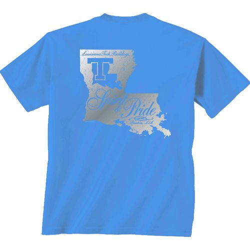 New World Graphics Women's Louisiana Tech University Silver State Distress T-shirt
