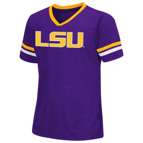 Colosseum Athletics™ Girls' Louisiana State University Titanium T-shirt