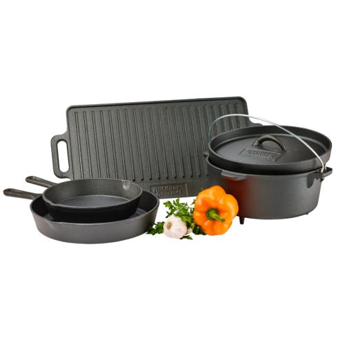 Outdoor Gourmet 5-Piece Cast-Iron Cookware Set - view number 3