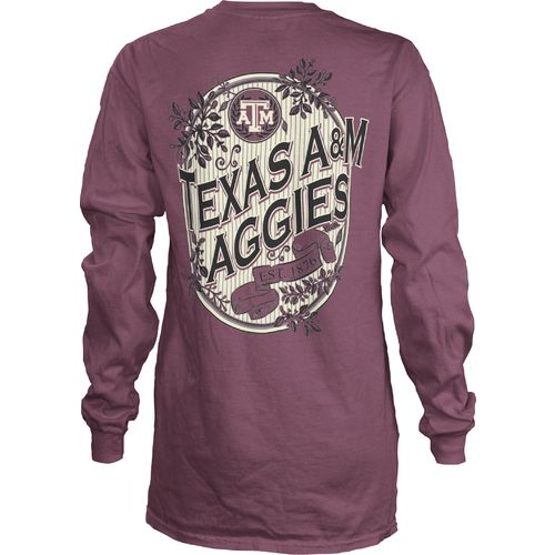 Three Squared Juniors' Texas A&M University Maya Long Sleeve T-shirt