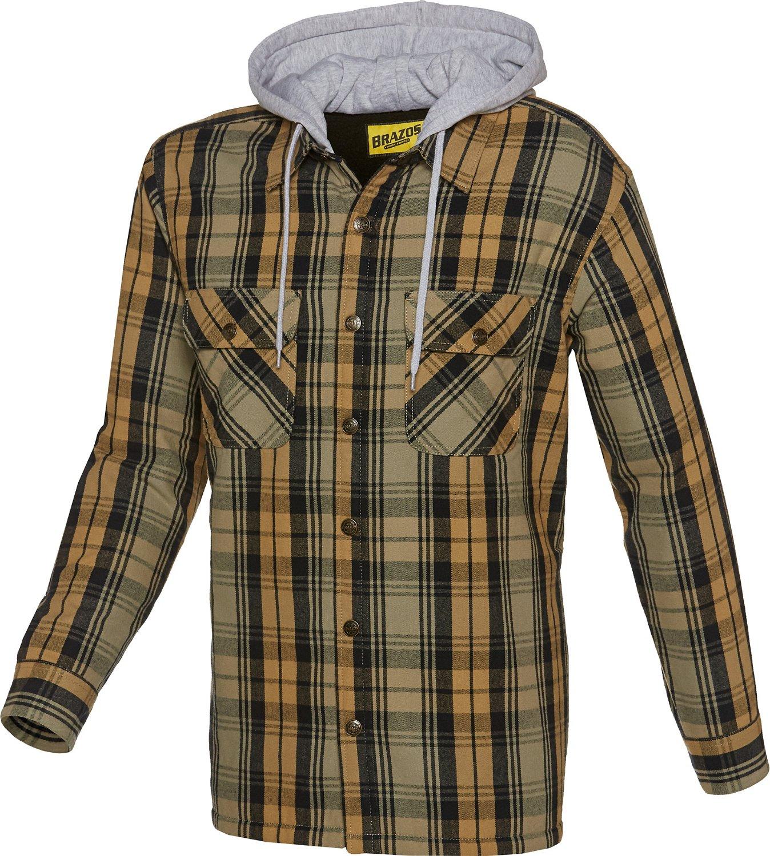 Brazos™ Men's Welder Flannel Hooded Shirt Jacket
