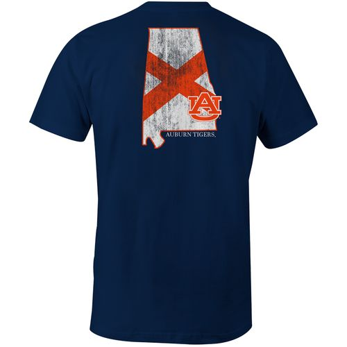 Image One Men's Auburn University State Flag Comfort Color T-shirt