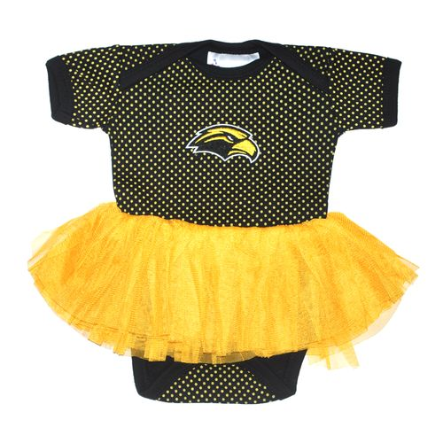 Two Feet Ahead Infant Girls' University of Southern Mississippi Pin Dot Tutu Creeper