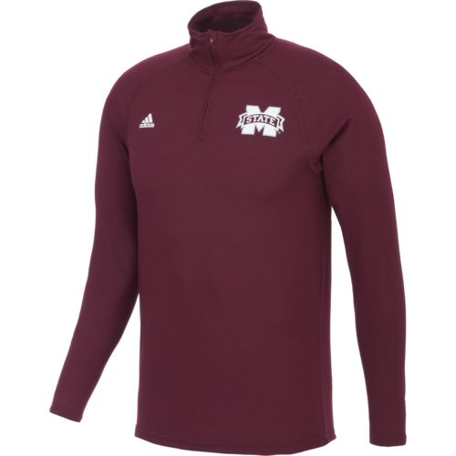 adidas™ Men's Mississippi State University climalite® Ultimate 1/4 Zip Pullover