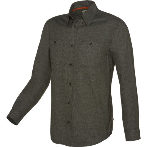 Magellan Outdoors Men's Hunter Creek Performance Solid Flannel Shirt