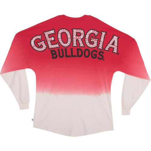 NCAA Women's University of Georgia Ombré Tribal Football T-shirt