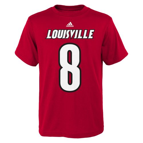 adidas™ Boys' University of Louisville #8 Football T-shirt - view number 1