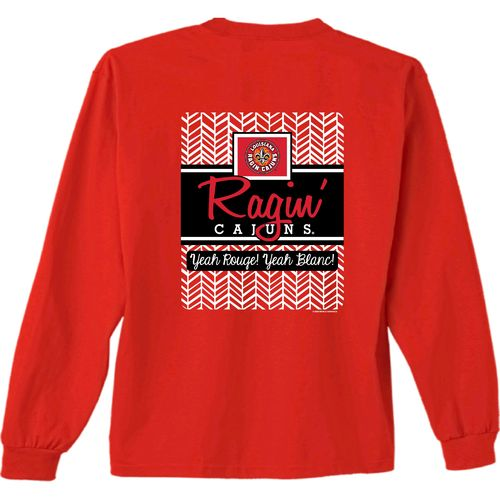 New World Graphics Women's University of Louisiana at Lafayette Herringbone Long Sleeve T-shirt