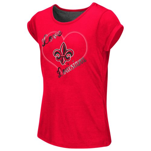 Colosseum Athletics™ Girls' University of Louisiana at Lafayette Baywatch Split Back T-shir