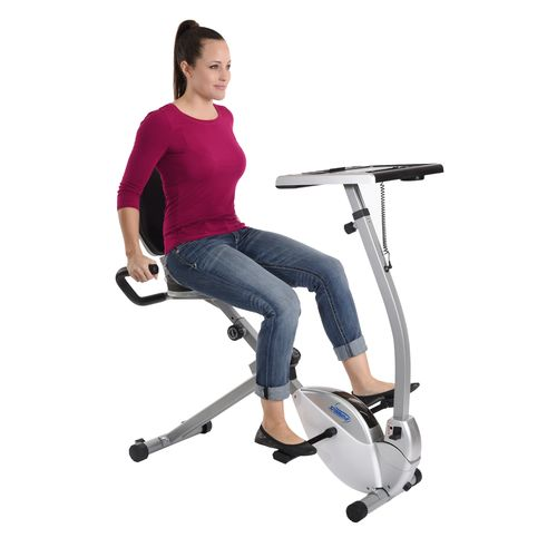 Display product reviews for Stamina® 2-in-1 Recumbent Exercise Bike Workstation and Standing Desk