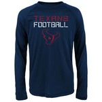 NFL Boys' Houston Texans Dri-Tek Concrete Long Sleeve T-shirt - view number 1